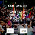 Diversitat convoca, a toda la ciudadanía de Alicante, a concentrarse en apoyo de la víctima de la brutal agresión y contra el discurso de odio LGTBIfóbico
